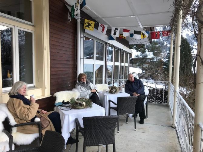 Winter Terrasse